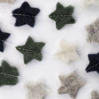 Green Felt Star Garland | Home Accessories